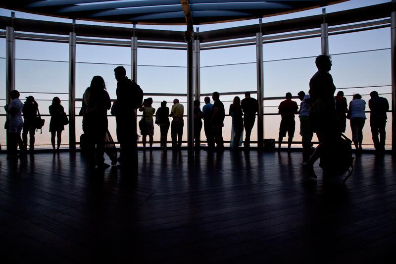 Silhouetten am Burj Khalifa